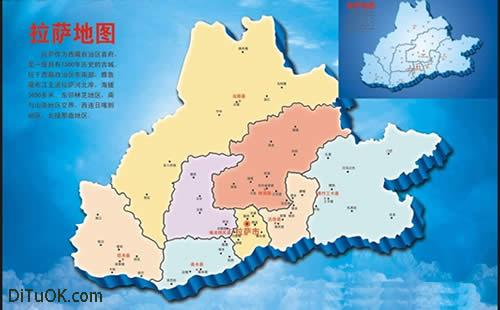 新版拉萨旅游手绘地图在旧版   拉萨市旅游局产业开发科工作人员次仁